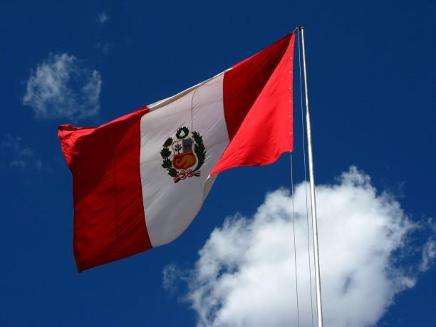Peru zászlaja (forrás: Wikimedia Commons)