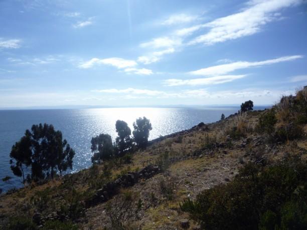 Kilátás a Titicaca tóra