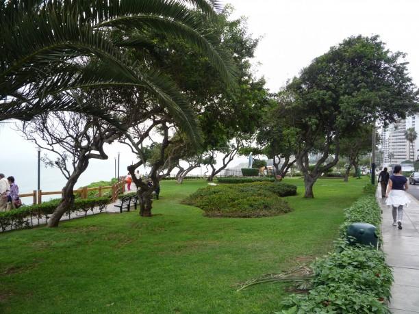 A Csendes óceán partjára néző park