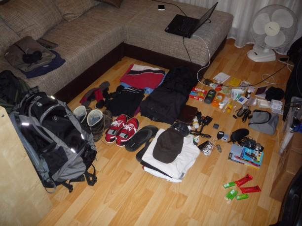 Csomagjaim indulás előtt