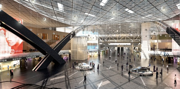 Dohai reptér (forrás: http://www.hok.com/)