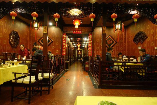 Klasszikus kínai hotpot étterem beltere